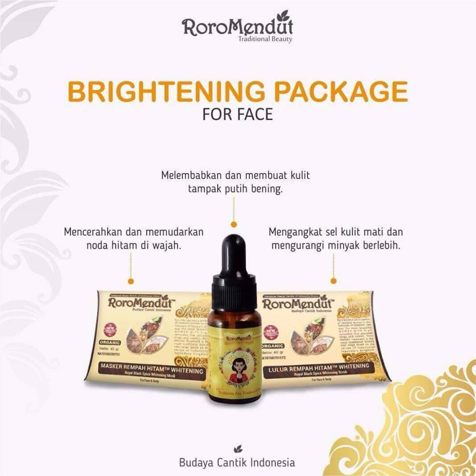 Selamat Datang Perawatan Wajah Paket B Brightening Package Roro Mendut Masker Rempah Hitam Detail Produk